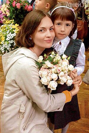 Юлия Юдинцева с дочерью Нюсей