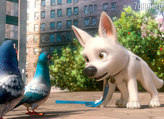 ...и пес Вольт, которого озвучил актер