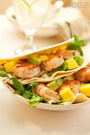 Тортильяс с креветками для пикника