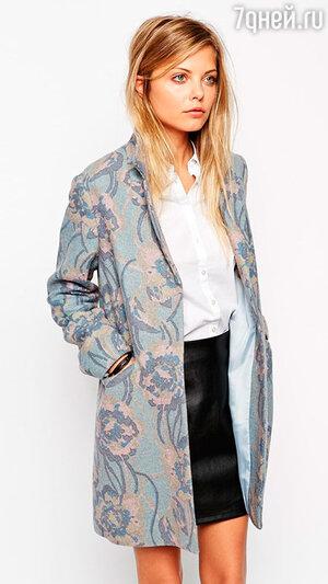 Пальто с цветочным принтом Asos