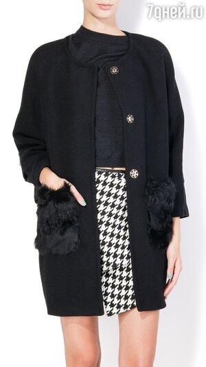 Пальто с меховыми карманами Takko Fashion