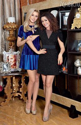 Анастасия Заворотнюк сдочерью Анной в своей московской квартире