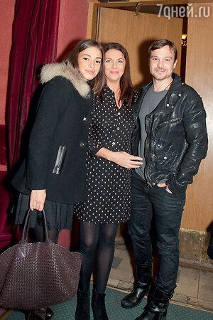 Татьяна Лютаева с дочерью Агнией Дитковските и зятем Алексеем Чадовым