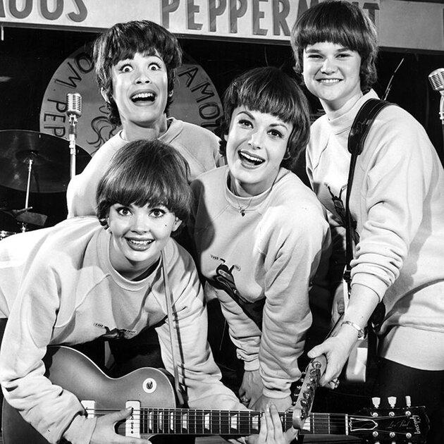 Пародия-подражание The Beatles - женская группа The Ladybugs, 1964 год