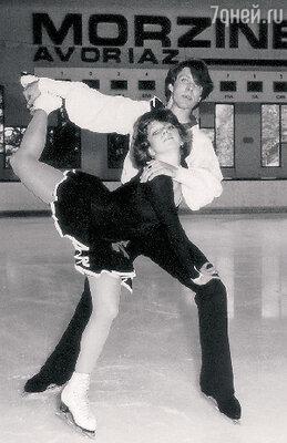 Андрей Букин и Наталья Бестемьянова на выступлениях в Авориазе (Франция). 1986 г.