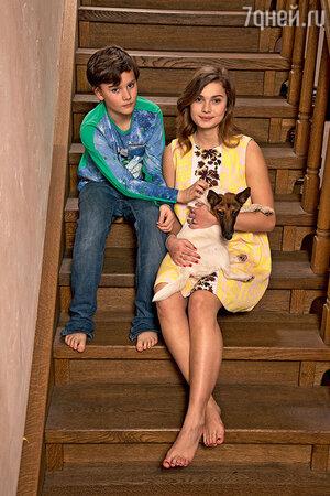 Мария Голубкина с сыном