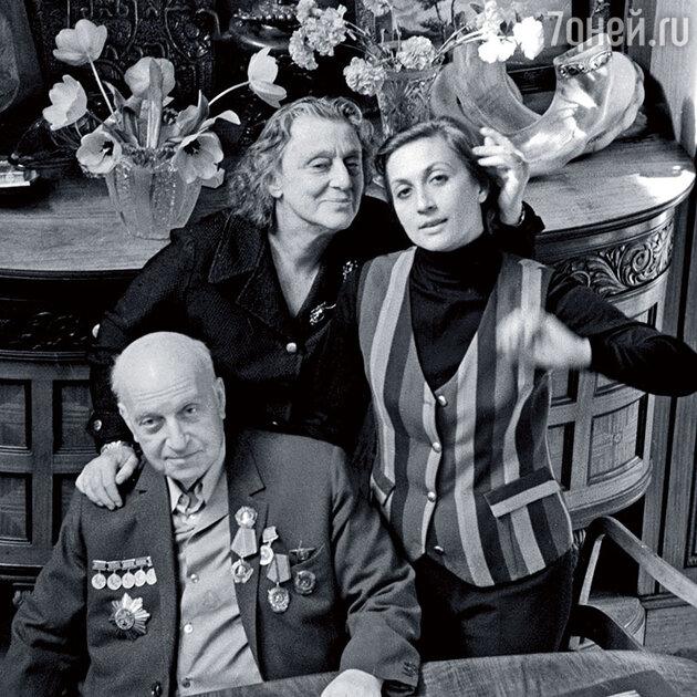Михаил Чиаурели, Верико Анджапаридзе и их дочь Софико Чиаурели
