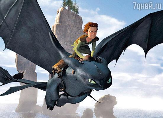 Кадр мультфильма «Как приручить дракона»