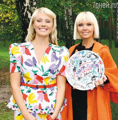 Валерия с актрисой Анастасией Савосиной