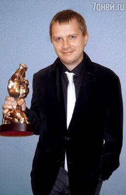 Сценарист Илья Куликов со статуэткой «ТЭФИ». В 2010 году «Глухарь. Продолжение» был признан лучшим телесериалом