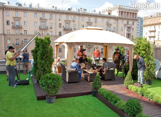 Ресторан оборудовали прямо на крыше старого московского особняка