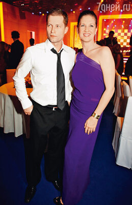 С женой Даной