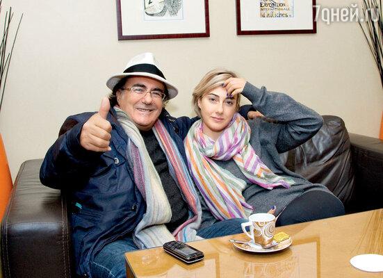Аль Бано с дочерью Кристель