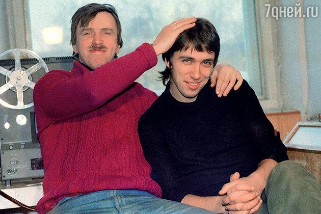 Алексей Вишня с Сергеем Курехиным (справа)