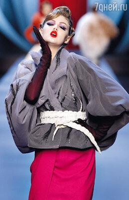 Новая коллекция «Christian Dior» была навеяна Джону Гальяно творчеством знаменитого в 50-е иллюстратора Рене Грюо...