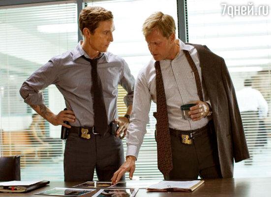 С Мэттью Макконохи в новом сериале «Настоящий детектив». 2014 г.