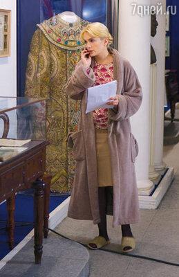 Мария Порошина в образе музейного работника