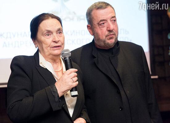 Марина Тарковская и Павел Лунгин