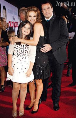 Джон Траволта с женой Келли Престон и дочерью Эллой