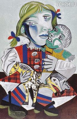 Майя стала для отца неиссякаемым источником вдохновения. «Майя с куклой», 1938 г.
