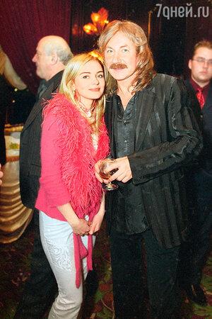Игорь Николаев с дочерью Юлей. 2003 г.