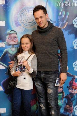 Александр Асташенок с дочерью