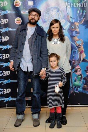 Артем Семакин с семьей