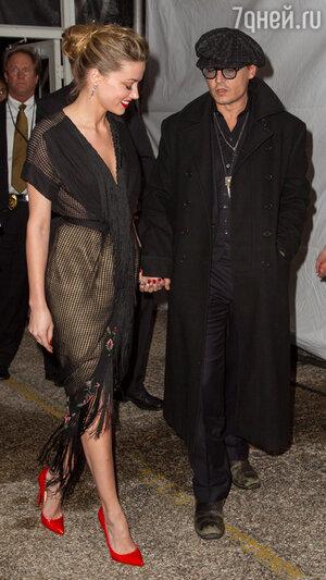 Эмбер Херд и Джонни Депп на церемонии Texas Film Awards