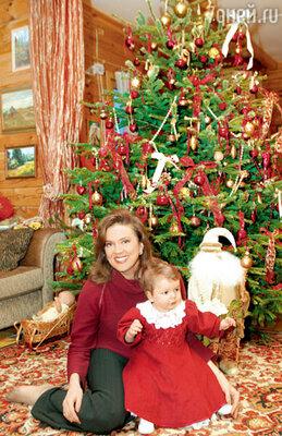 Светлана Сорокина с дочкой Тоней. Декабрь 2003 г.