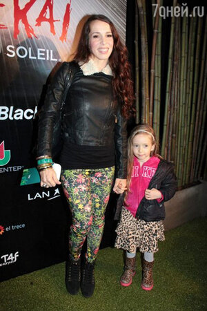 Виктория Онетто с дочерью, 2013 г.