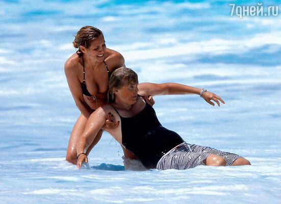 Хайди Клум спасла из волн океана не только сына, но и двух его нянек