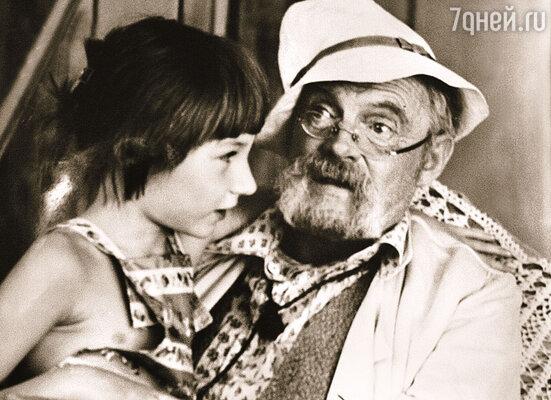 Мы с дедом во время съемок фильма «Неоконченная пьеса для механического пианино»...