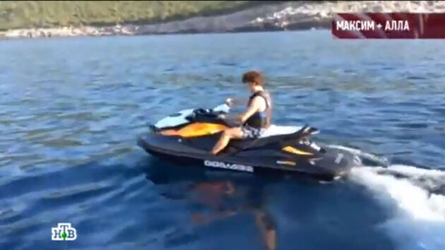 Максим Галкин на отдыхе в Греции