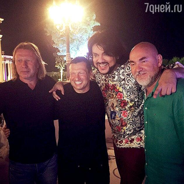 Виктор Дробыш, Владимир Соловьев, Филипп Киркоров и Сергей Кожевников
