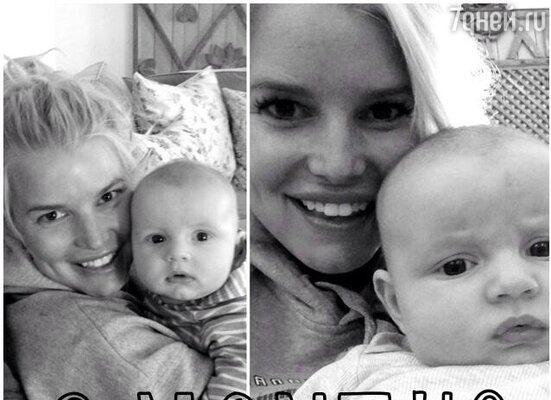 Джессика Симпсон родила сына своему бойфренду Эрику Джонсону. Мальчика назвали Эйс Кнут Джонсон