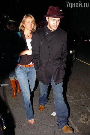 Джастин Тимберлейк со своей нынешней подругой Камерон Диаз