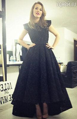 Ксения Собчак в платье bohemique