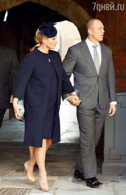 Единственный член королевской семьи среди крестных — внучка ЕлизаветыII Зара Филлипс с мужем
