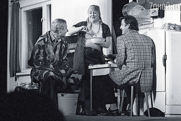 Альберт Филозов с Юрием Гребенщиковым и Лидией Савченко