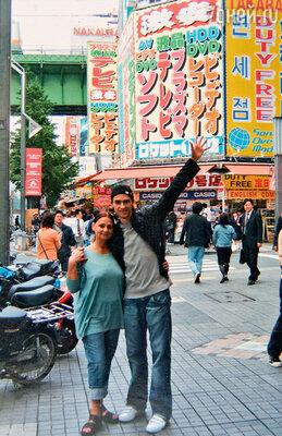 С мамой Натальей Сергеевной в поездке по Японии