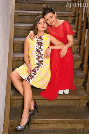 Мария Голубкина с дочкой Настей