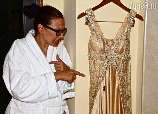 Накануне торжества Эвелина обнаружила в своем роскошном свадебном платье от дизайнера Ольги Русан… огромного рыжего таракана!