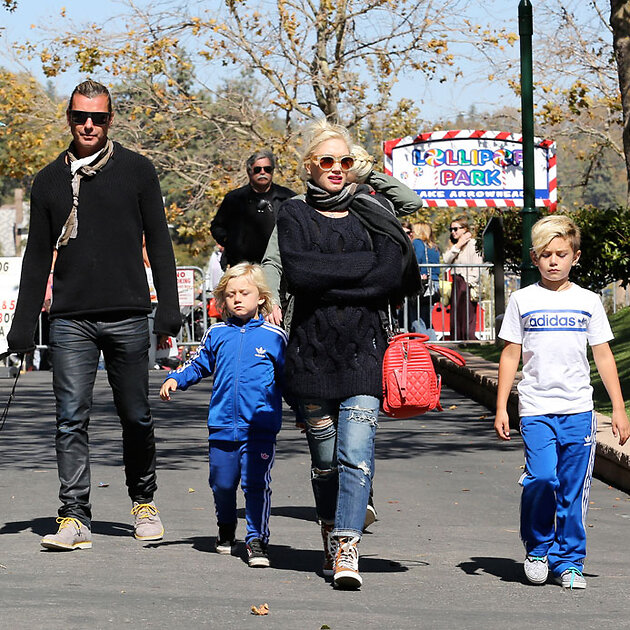 Гвен Стефани (Gwen Stefani) с мужем и сыновьями