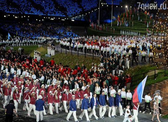 Сборная России на Олимпийском стадионе в Лондоне