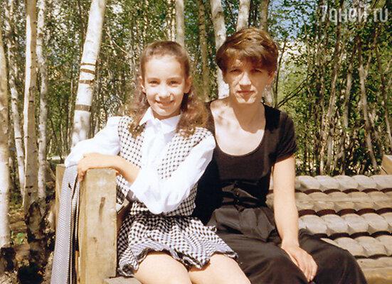 С мамой Евгенией Сергеевной. 1997 г.