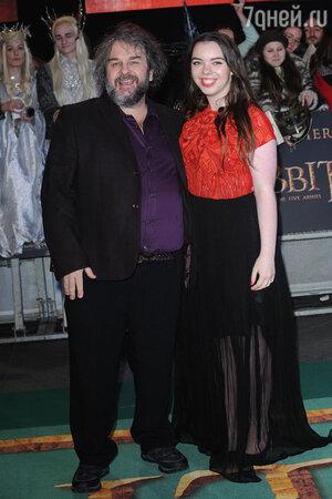 Питер Джексон с дочерью Кати