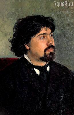 Василий Суриков. Портрет кисти ИльиРепина. 1877 г.