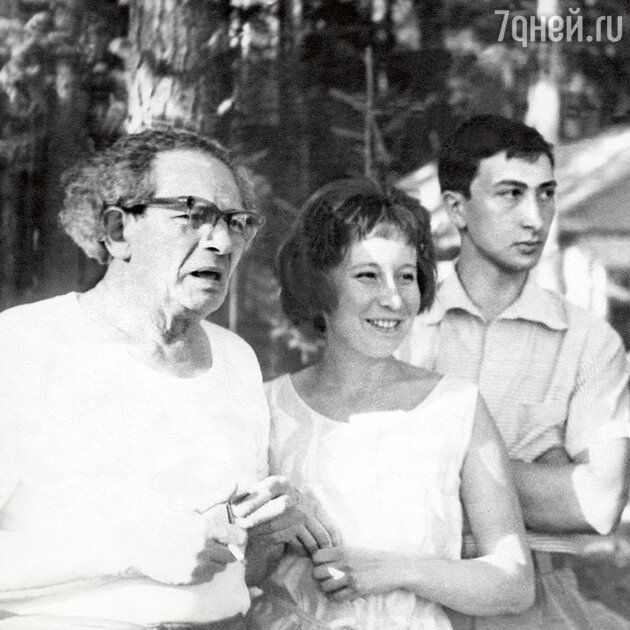 Вольф Мессинг с Татьяной Лунгиной и ее сыном