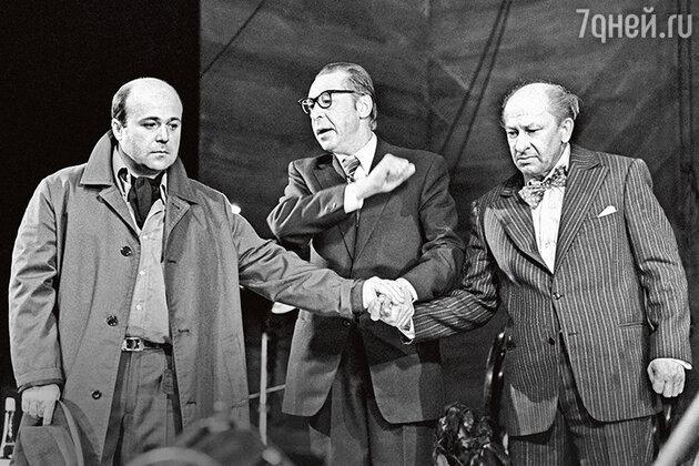 Александр Калягин, Олег Ефремов и Евгений Евстигнеев в спектакле «Кино». 1979 г.