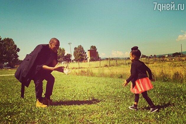 Джей Зи с дочкой Блю Айви